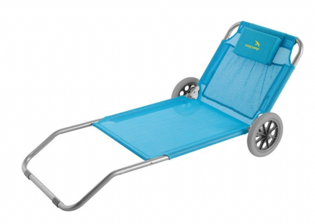 Easy Camp Pier Blue Beach Sun Bed Trolley - Grasshopper Leisure, Camping & Beach Chairs and beds